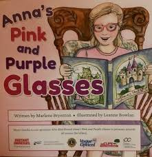 Anna's Pink and Purple Glasses